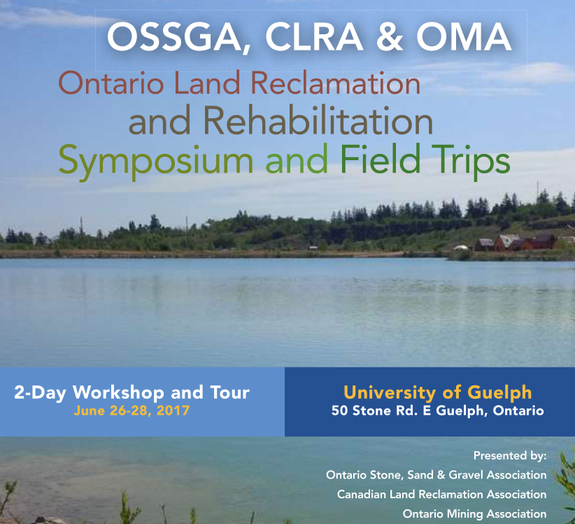 Open Aggregates to attend the Ontario Land Reclamation and Rehabilitation Symposium